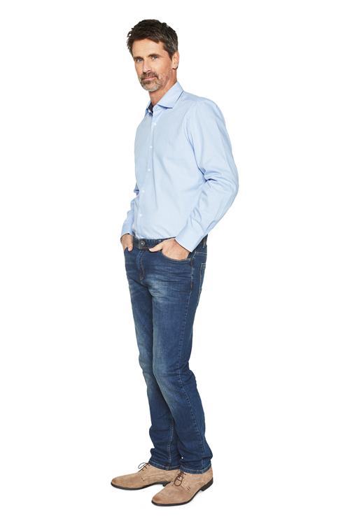 Lichtblauw Overhemd.Heren Overhemd Meyer Met Ruitmotief Lichtblauw Miller Monroe