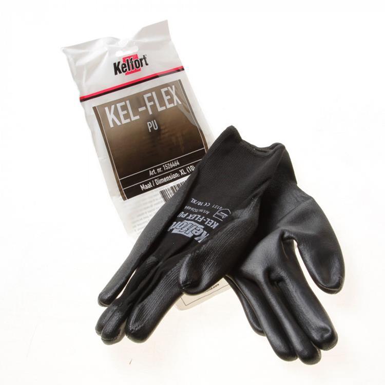 KELFORT handschoen Kel-Flex PU zwart M 1 paar