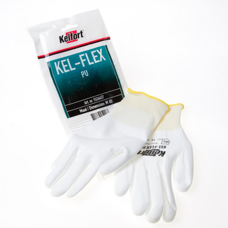 KELFORT handschoen Kel-Flex PU wit M 1`paar