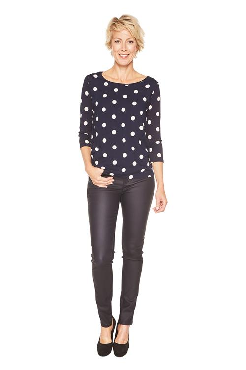 Street One Shirt Evi Dots Donkerblauw