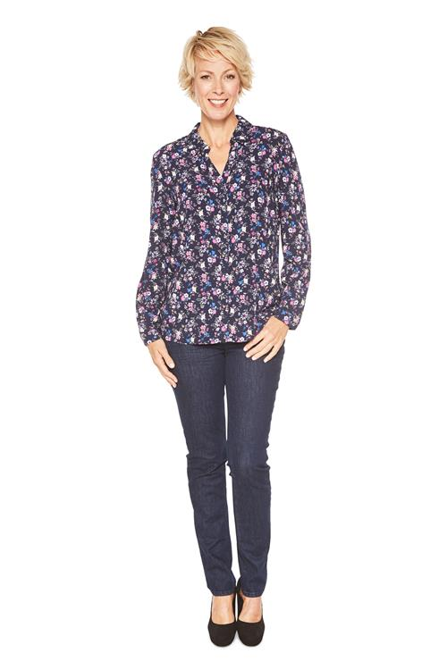 Cecil Blouse Flower Print Donkerblauw