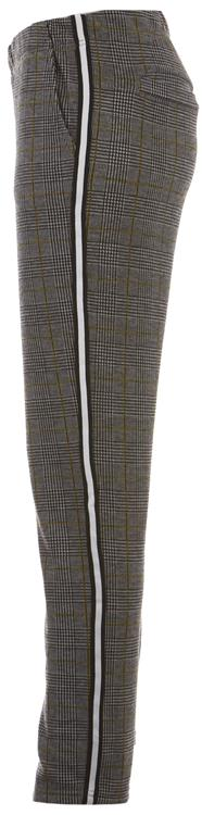 Geisha check pants Black/yellow