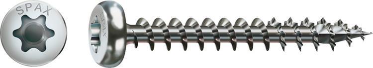 SPAX spaanplaatschroeven TORX cilinderkop 4,0 x 30mm T20 RVS Voldraad 200 st