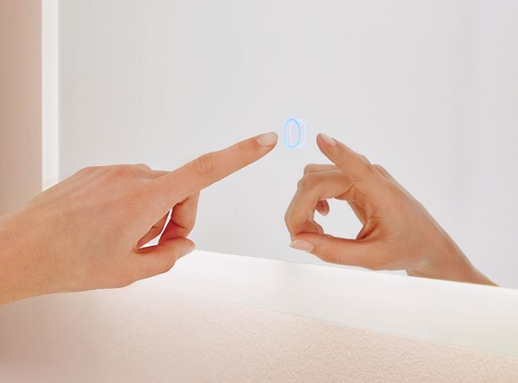 spiegel touch led 140 x 65 cm. Black Bedroom Furniture Sets. Home Design Ideas