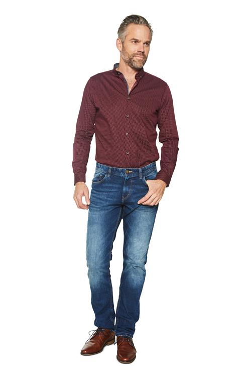 Tom Tailor Casual Overhemd Dessin Bordeaux