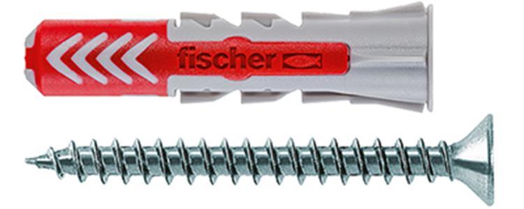 FISCHER DUOPOWER pluggen 6x30 S inclusief schroeven 50 st.