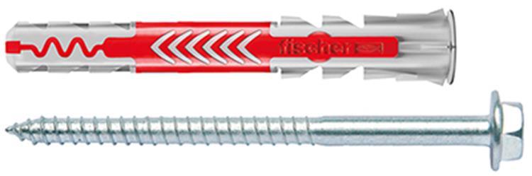 FISCHER DUOPOWER pluggen 10x80 S inclusief schroeven 10 st.