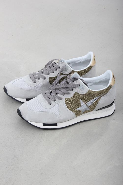 Golden Goose Sneaker Running Gold Lurex Glitter Star