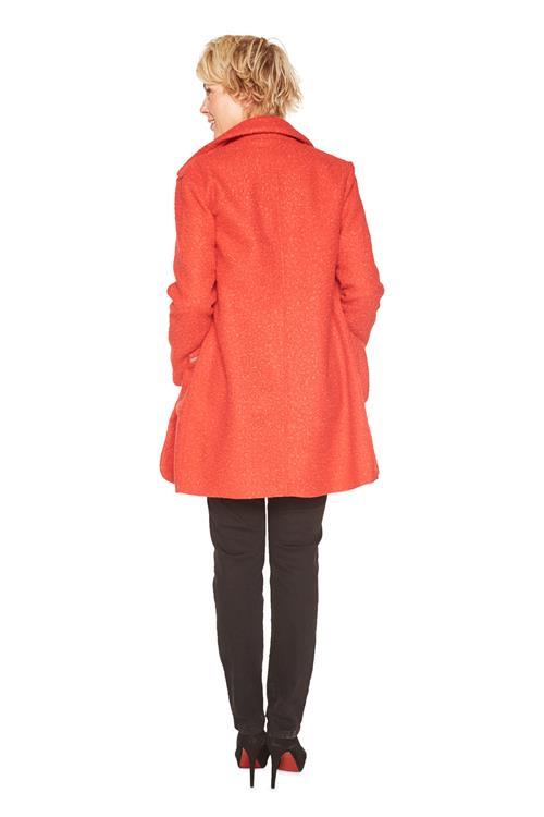 Tom Tailor Women Mantel Bouclé Rot Schließen. kostenlose ... e9a7a27581