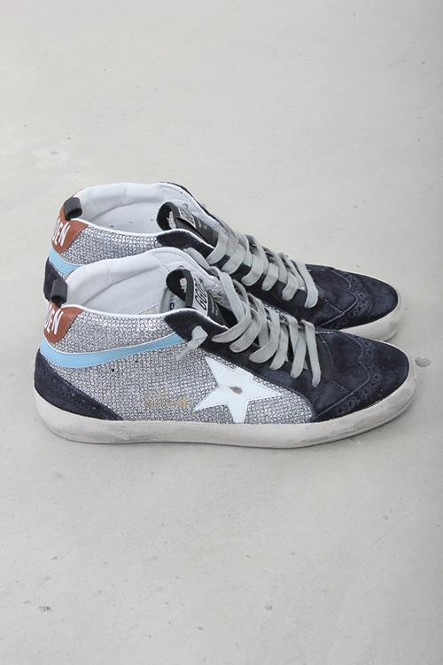 Golden Goose sneaker midstar disco glitter white star