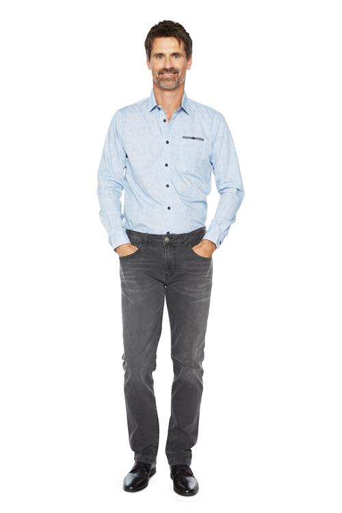 Tom Tailor Casual Overhemd Print Blauw