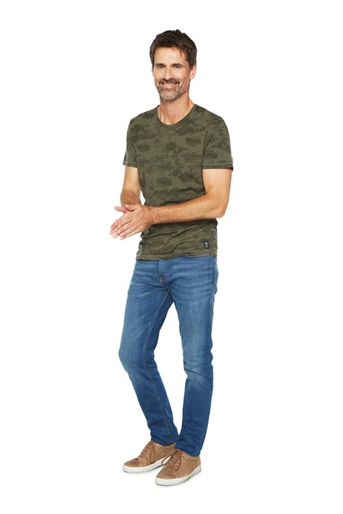 Tom Tailor Casual T-shirt Camouflage Groen