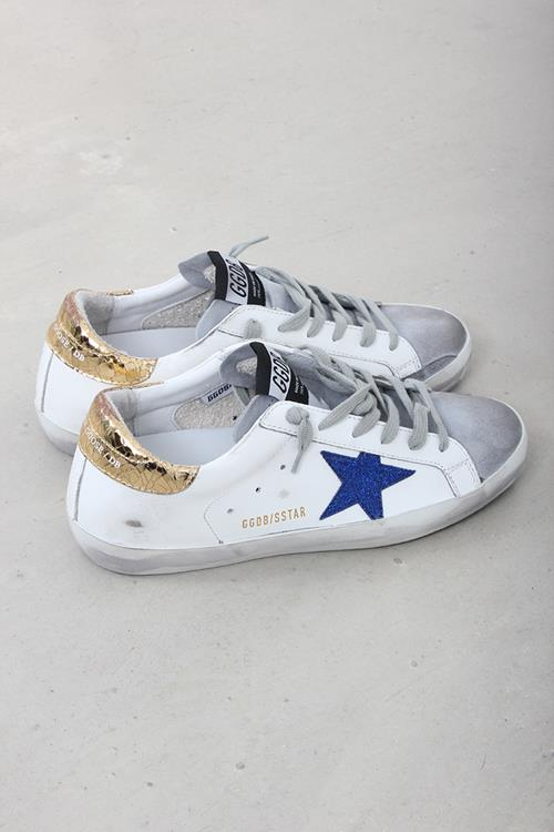 Golden Goose sneaker superstar white leather gold crack