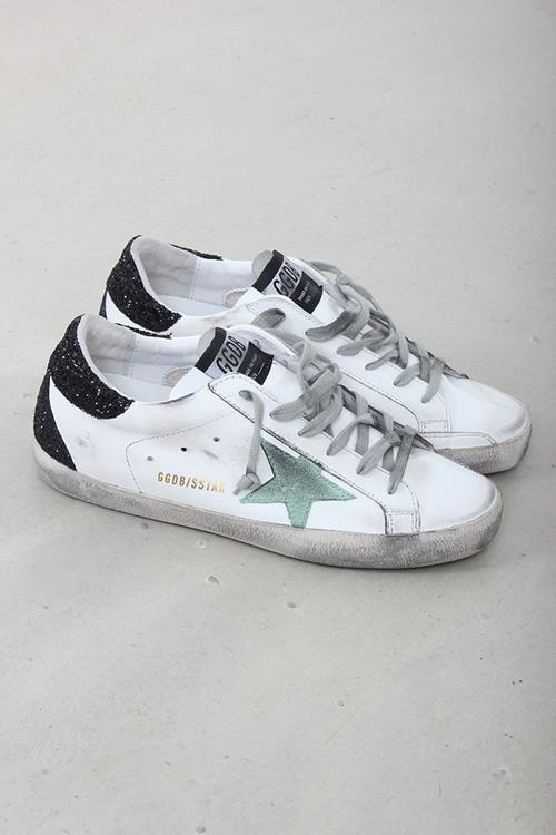Golden Goose sneaker superstar white leather mint star