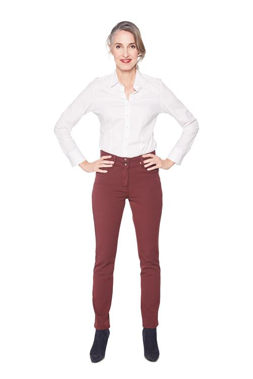 Witteveen Slim Fit Broek Brody Bordeaux