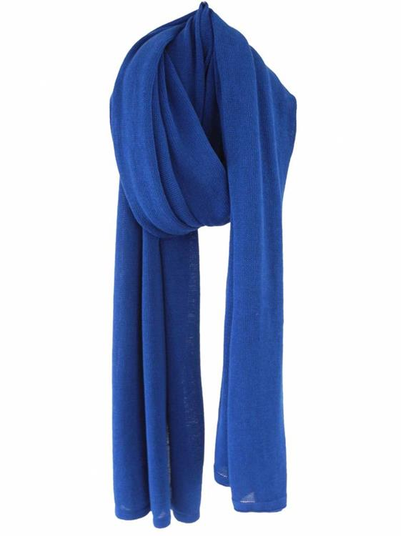 Cosy Cotton sjaal - Electric Blue