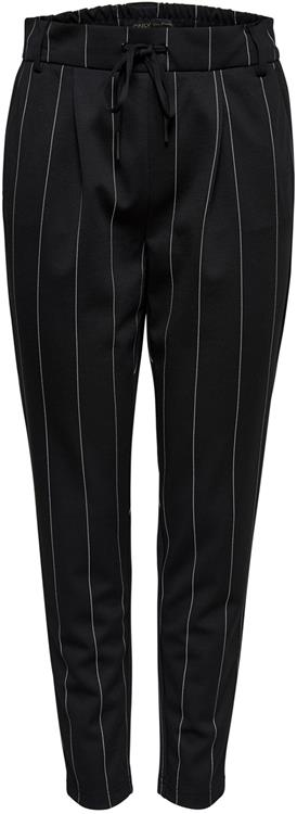 Onlpoptrash tempo stripe pants black/white