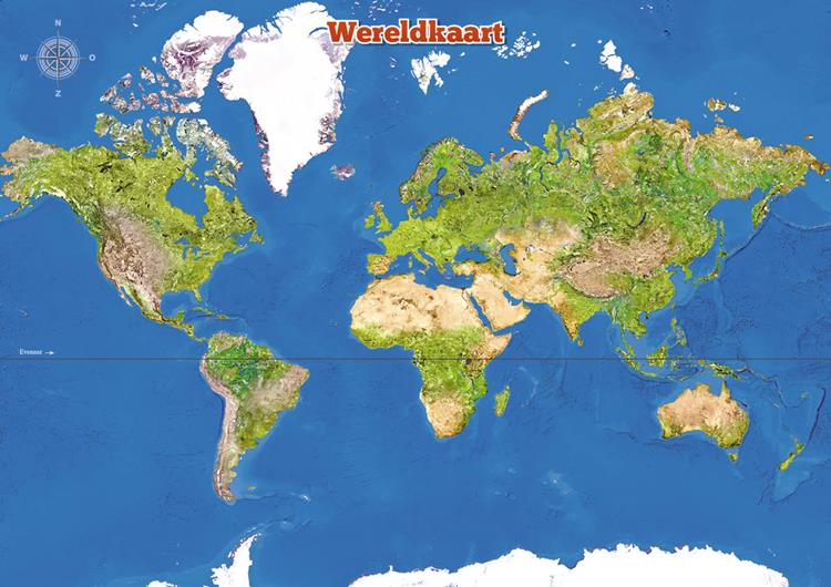 poster a3 wereldkaart