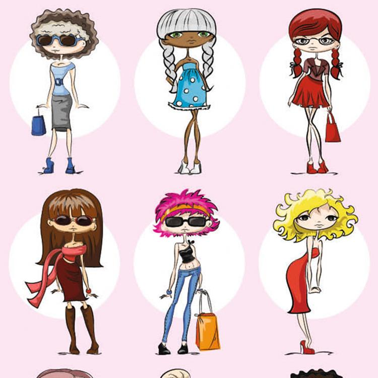 Klein pak beloningssticker Fashion Girls