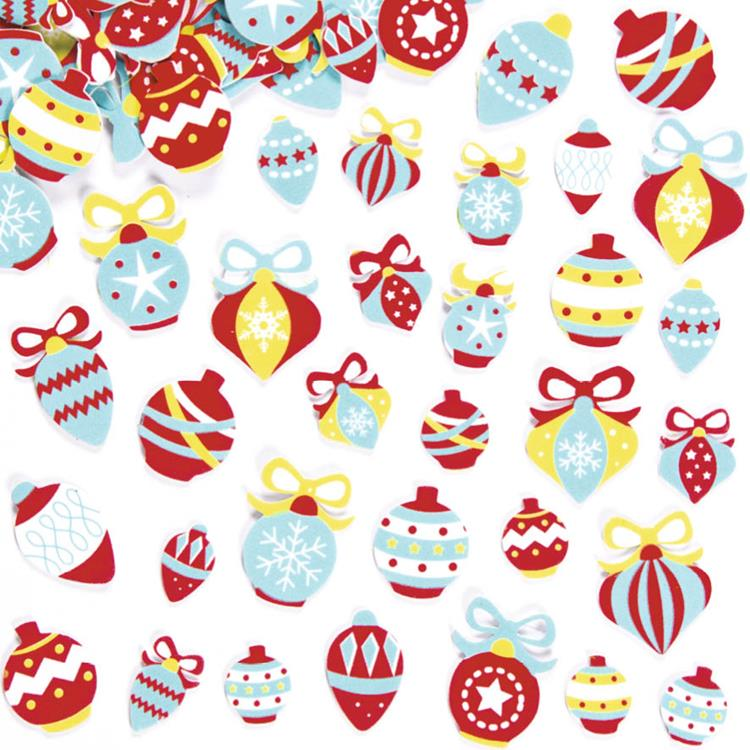 Kerstballen foam decoratiestickers