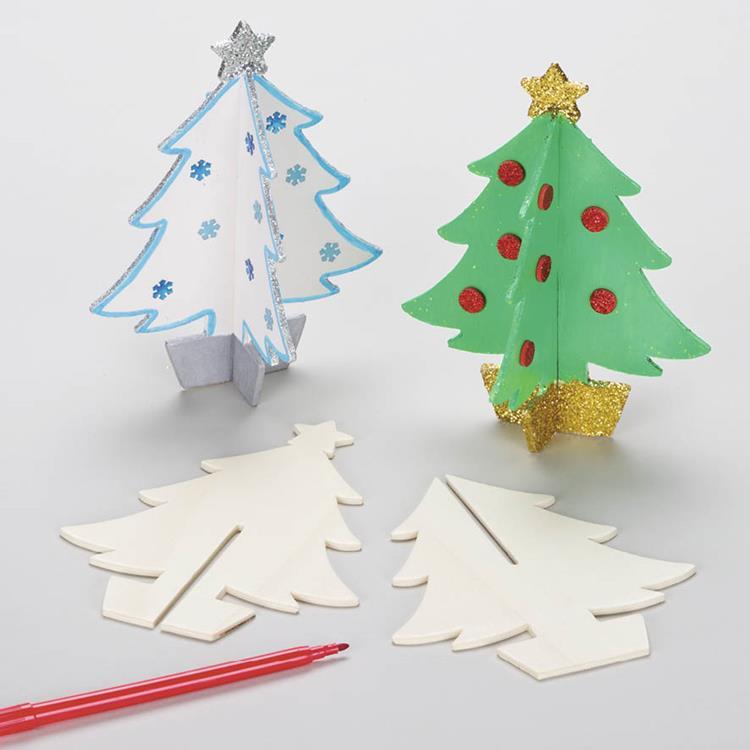 3d Houten Kerstboom