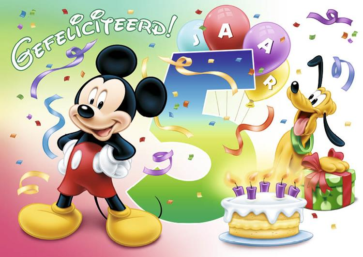 Mickey Mouse cijfer 5 *OUTLET*
