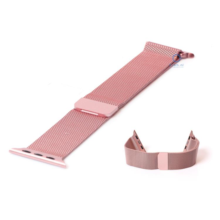Apple Watch horlogeband milanees roze (38mm)