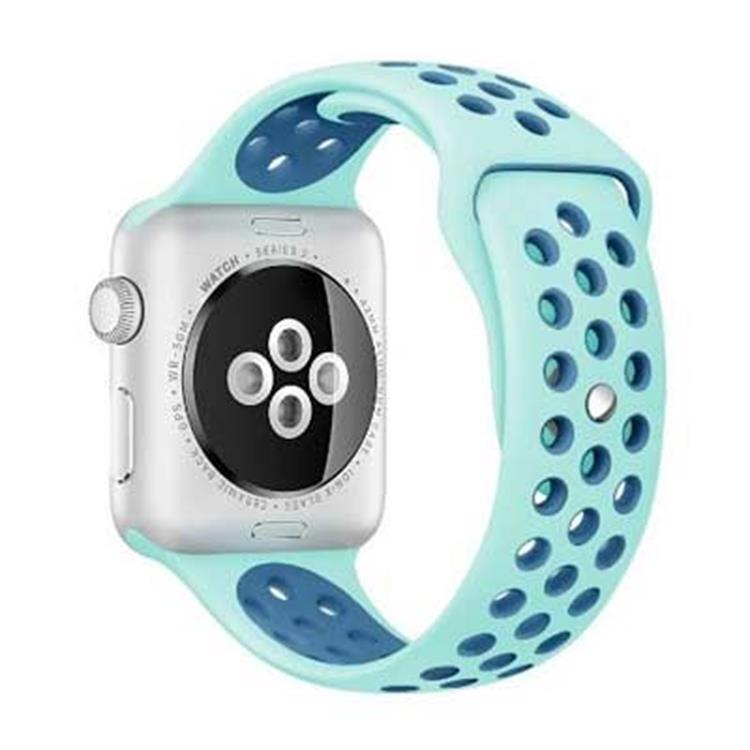Apple Watch horlogeband siliconen blauw (42mm)