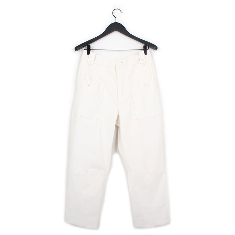 Nehera lyon leather trousers white