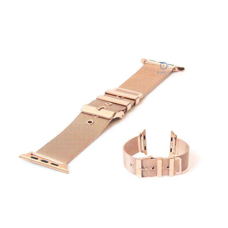 Apple Watch horlogeband rose goud milanees (42mm)