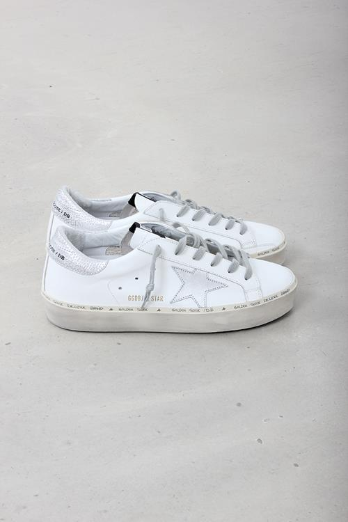 Golden Goose sneaker hi star white leather shiny star
