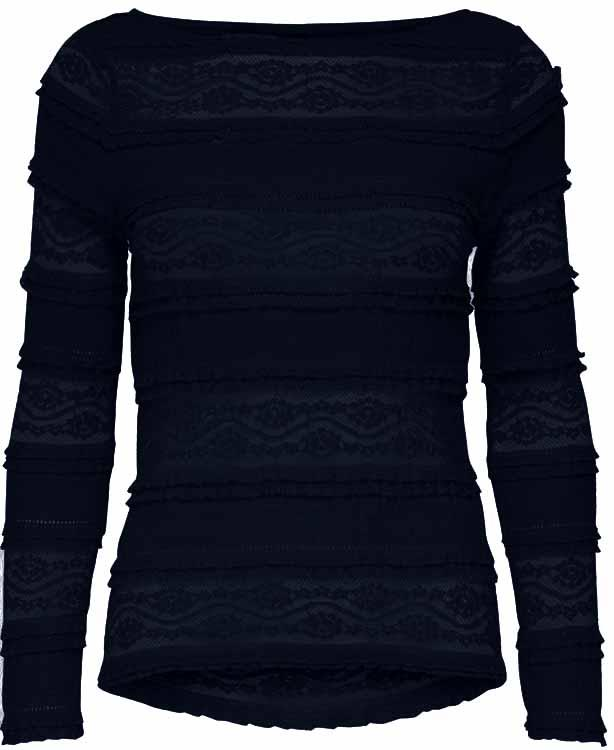 Onlmarjorie l/s boatneck top Night sky
