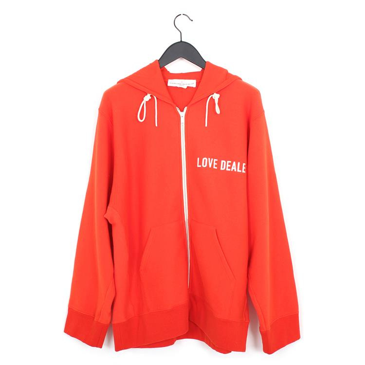 Golden Goose hooded zip janet dark orange