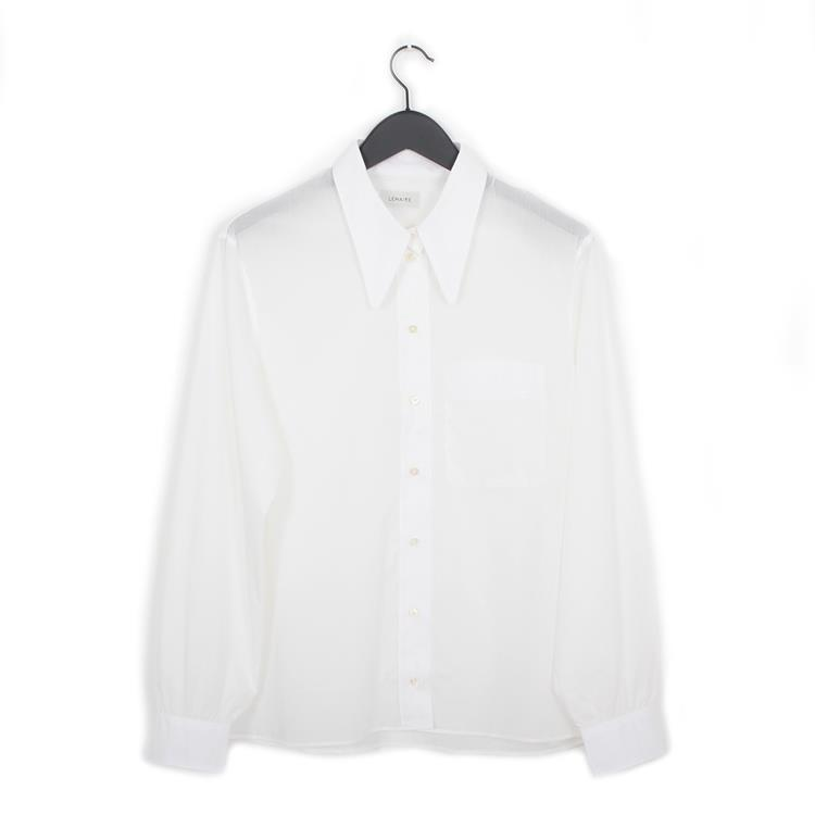 Lemaire straight collar shirt chalk