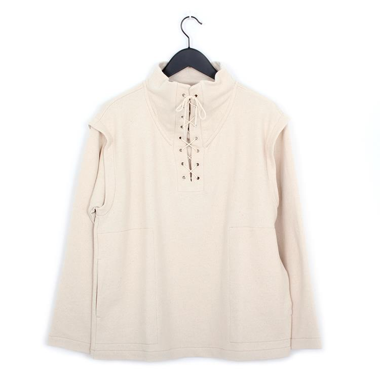 Lemaire lace up top ecru