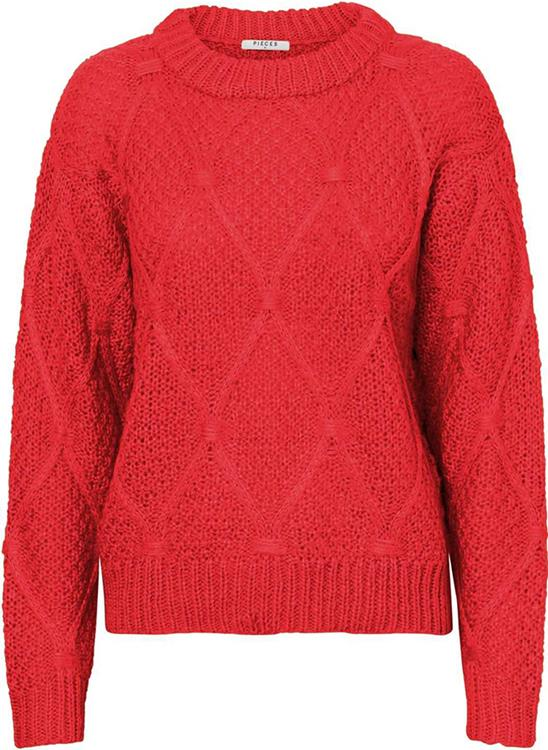 Pcgina ls knit High Risk Red