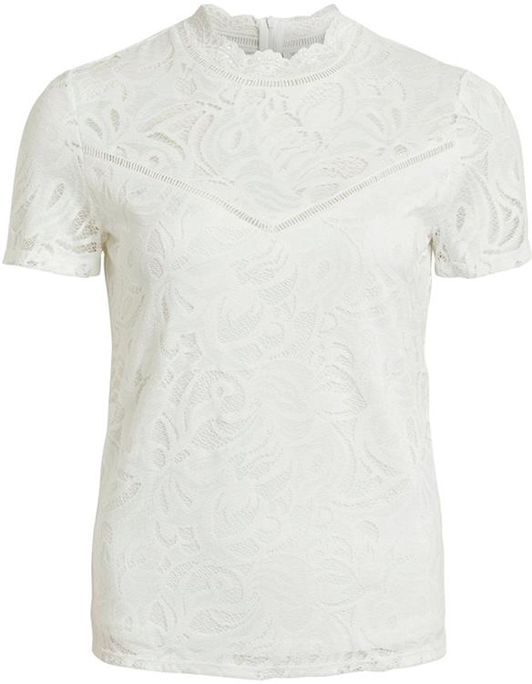 Vistasia s/s lace top Cloud Dancer