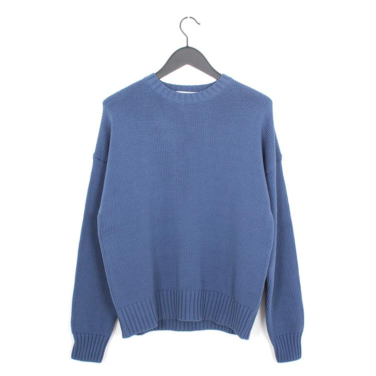 Cristaseya summer night cotton sweater blue