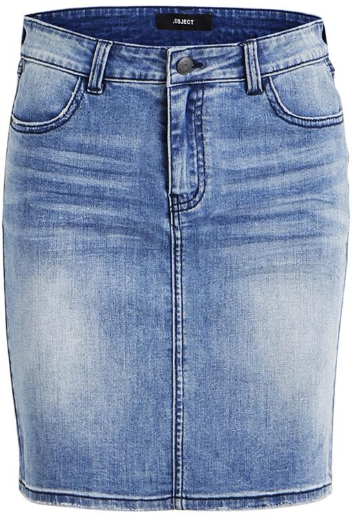 Objwin new denim skirt Medium Blue Denim