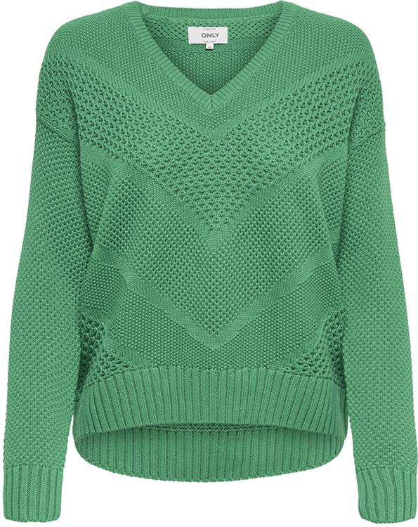 Onlbertha l-s pullover Simply Green