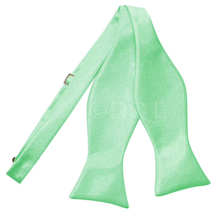 Uni satijnen smoking strik (zelfstrikkend) mint green