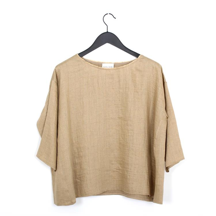 Forte Forte shantung canvas shirt oro