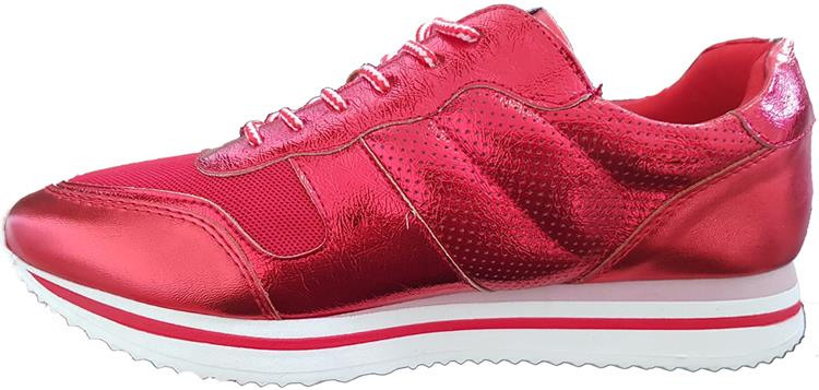 FABULOUS FABS sneaker metallic red
