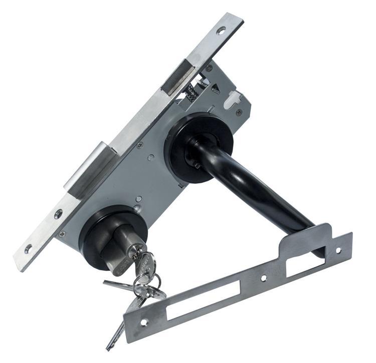 EUROFIX Deurslot set ZWART ROND ROZET doornmaat 45 mm PC=85 mm