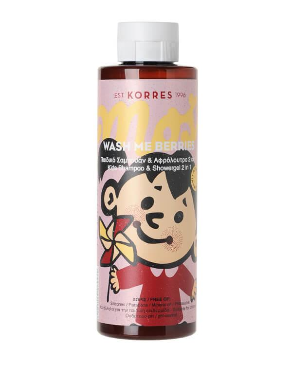 Korres - Wash Me Berries Kids Shampoo + Showergel 2 in 1 - 250 ml