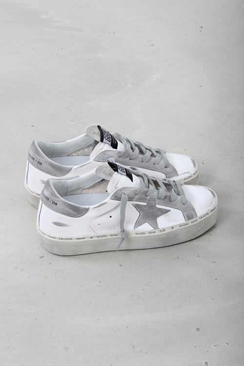 Golden Goose sneaker hi star white nappa ice suede star