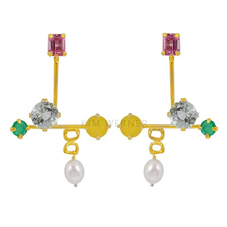 Wouters & Hendrix stud earrings with rose crystal