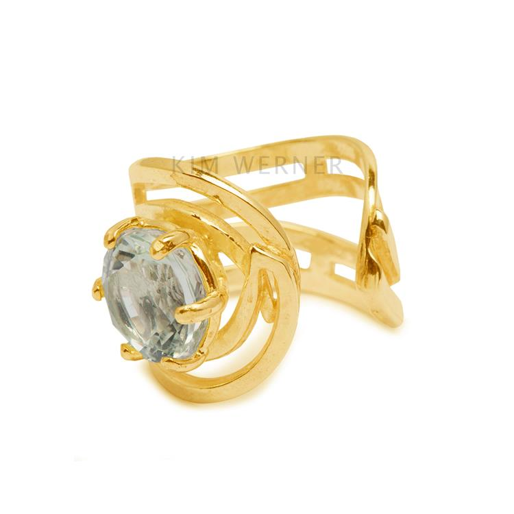 Wouters & Hendrix green crystal gap ring