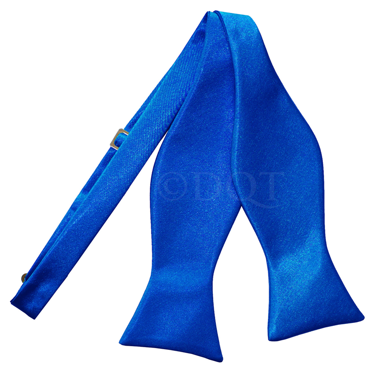 Uni satijnen smoking strik (zelfstrikkend) royal blue