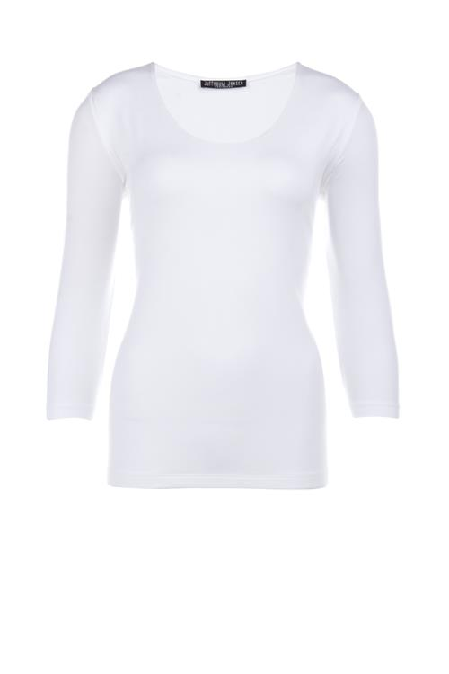 Basic top met driekwartmouwen